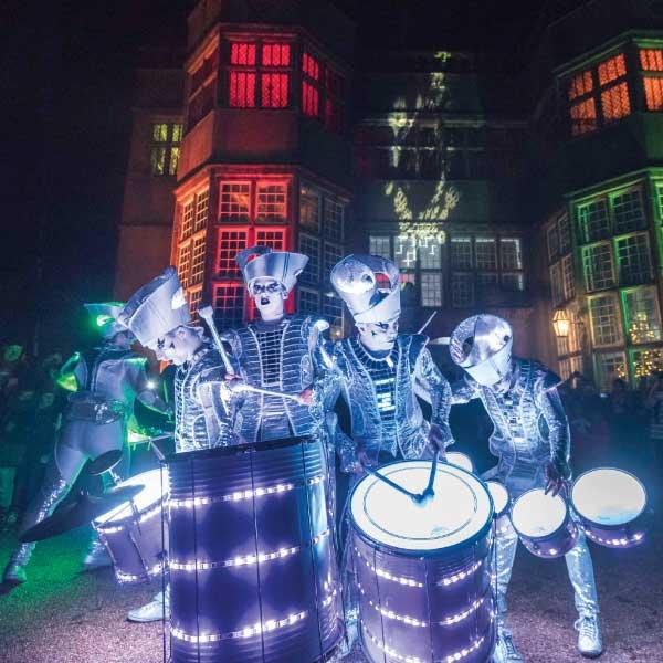 Marching band at Astley Illuminated