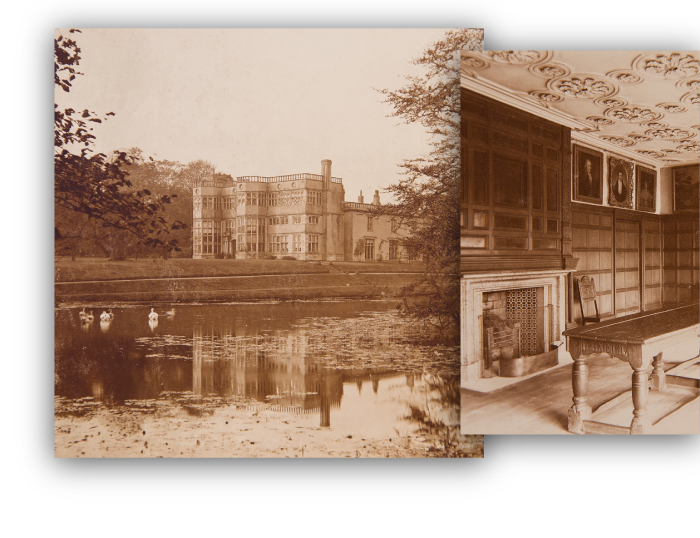 Sepia images of Astley Hall