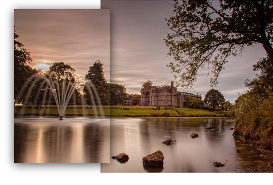 Astley Hall and Fountain