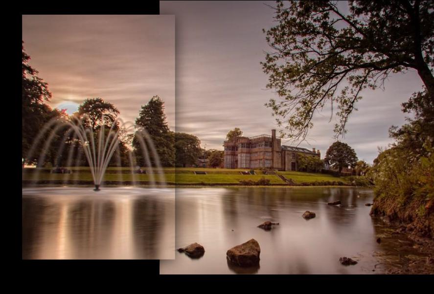 Astley Hall and Fountain