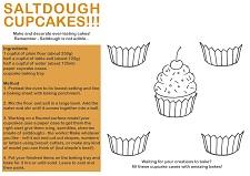 Saltdough Cupcakes